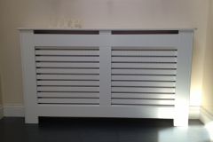 New England radiator cabinet design with our horizontal bar design grille also available in vertical