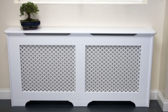 Old England 'classic' design finished in satin white with a Oregon MDF cross grille