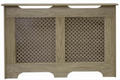 Old England cabinet finished in oak veneer with a Oregon oak veneer grille