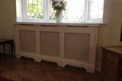 Stuley design finished in our customers 'own colour' paint and a pattern MDF grille