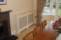 Studley design radiator cover fitted in the dinning room
