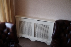 Studley design traditional cabinet finished in satin white