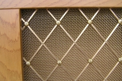 Regency brass grille 54mm diamond alternate floral rosette and large backing mesh