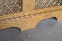 Studley radiator cover decorative lower rail