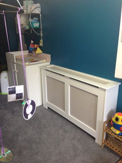 storage heater cover in a day nursery