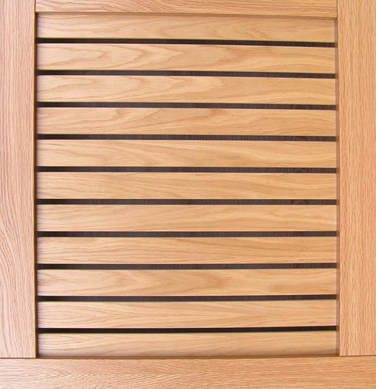 Slatted Veneer Horizontal