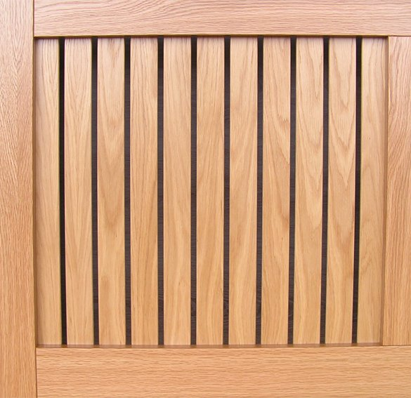 Slatted Veneer Vertical
