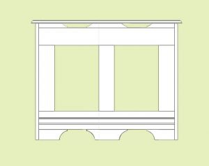 Traditional radiator cover design